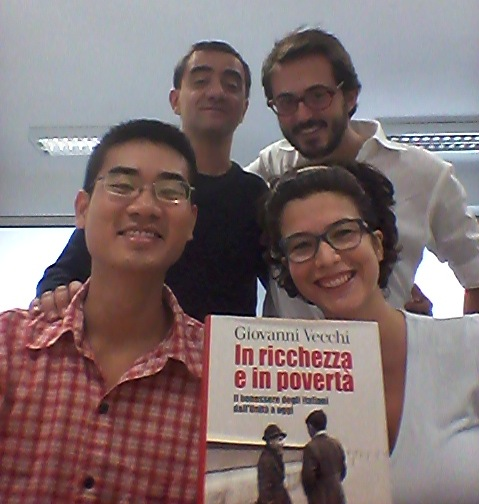 Nguyen Hoang Long (bottom left) with the HHB Team based in Rome: Stefano Chianese (top left), Giacomo Gabbuti (top right) and Federica Di Battista (bottom right)